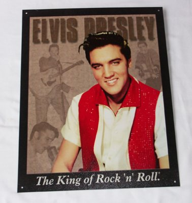 Plåtskylt: Elvis Presley The king of Silv