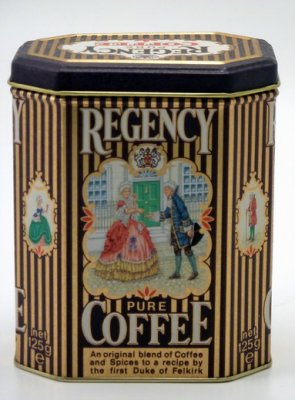Kaffeburk: Regency pure CoffeE 8 kantig burk